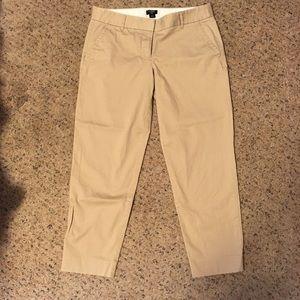 J. Crew city fit khaki cropped dress pants